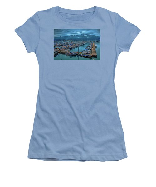 Nightfall On The Harbor Women's T-Shirt (Athletic Fit)