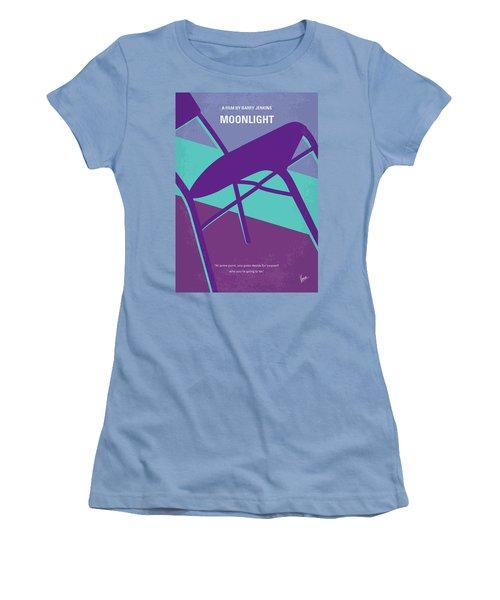 Women's T-Shirt (Junior Cut) featuring the digital art No757 My Moonlight Minimal Movie Poster by Chungkong Art