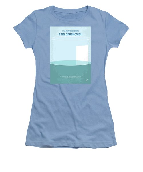 Women's T-Shirt (Junior Cut) featuring the digital art No769 My Erin Brockovich Minimal Movie Poster by Chungkong Art