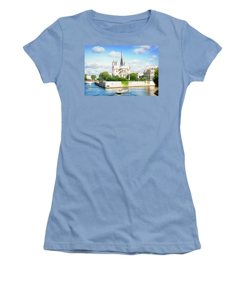 Notre Dame Cathedral, Paris France Women's T-Shirt (Athletic Fit)
