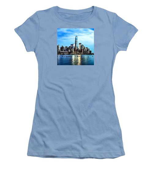 Nyc- A Blue Day Women's T-Shirt (Athletic Fit)