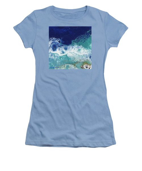 Women's T-Shirt (Athletic Fit) featuring the painting Ocean by Jamie Frier