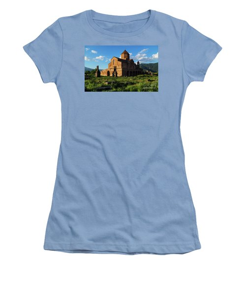 Odzun Church And Puffy Clouds At Evening, Armenia Women's T-Shirt (Athletic Fit)