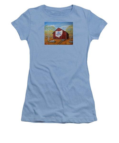 Ohio Bicentennial Barns 22 Women's T-Shirt (Junior Cut) by Melvin Turner