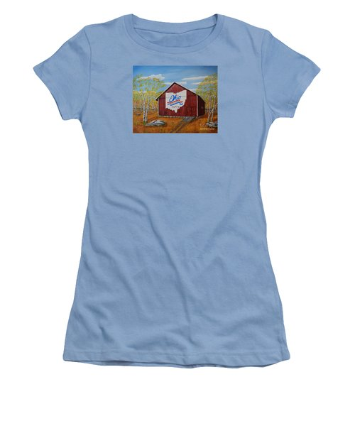 Ohio Bicentennial Barns 22 Women's T-Shirt (Athletic Fit)