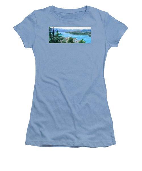 Okanagan Blue Women's T-Shirt (Athletic Fit)