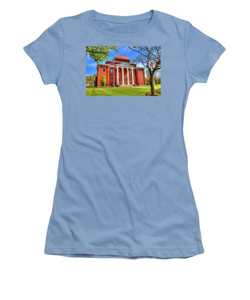 Old Ashe Courthouse Women's T-Shirt (Junior Cut) by Dale R Carlson
