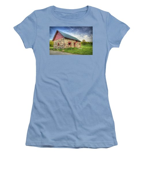 Old Barn At Dusk Women's T-Shirt (Athletic Fit)