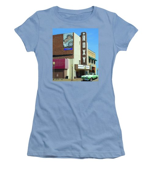 Old Roxy Theater In Muskogee, Oklahoma Women's T-Shirt (Athletic Fit)