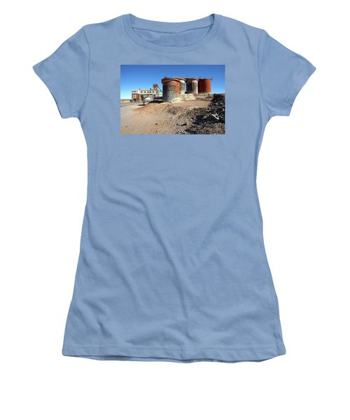 Women's T-Shirt (Junior Cut) featuring the photograph Old Silver Mine Broken Hill by Bill Robinson