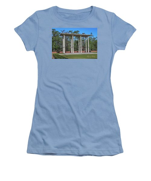 Women's T-Shirt (Junior Cut) featuring the photograph Old Student Union Arches by Gregory Daley  PPSA