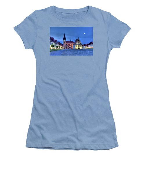 Old Town Square In Bardejov, Slovakia,hdr Women's T-Shirt (Junior Cut) by Elenarts - Elena Duvernay photo