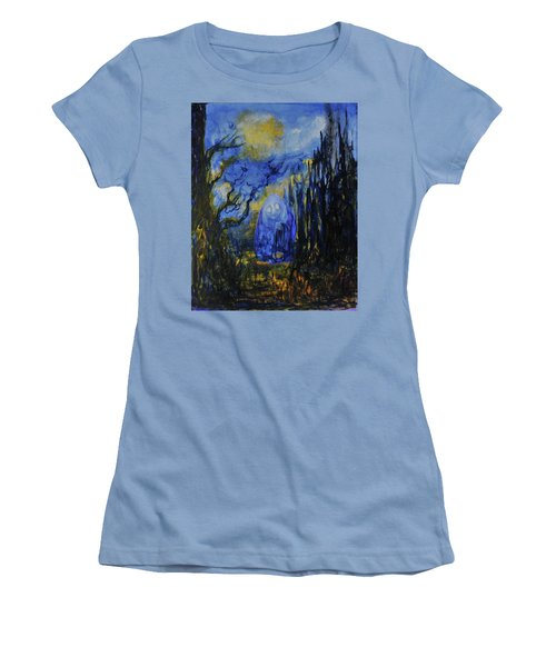 Women's T-Shirt (Junior Cut) featuring the painting Old Ways by Christophe Ennis