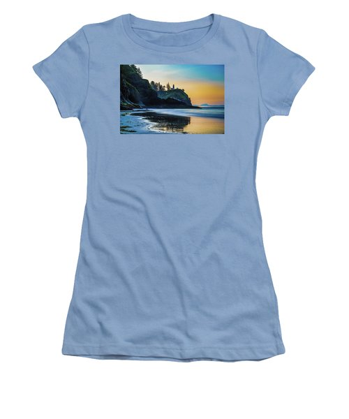 One Morning At The Beach Women's T-Shirt (Junior Cut) by Ken Stanback