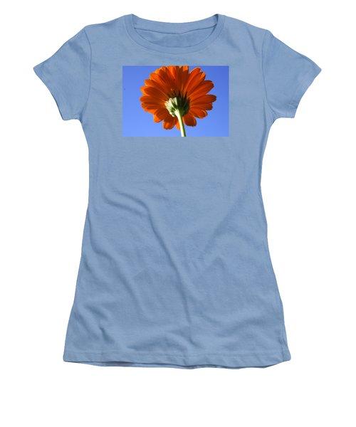 Orange Gerbera Flower Women's T-Shirt (Junior Cut) by Ralph A  Ledergerber-Photography