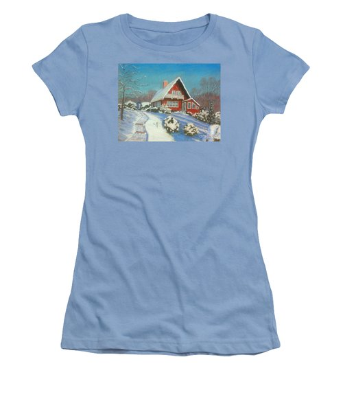 Our Home Women's T-Shirt (Junior Cut) by Rae  Smith  PAC
