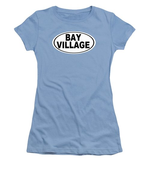 Women's T-Shirt (Junior Cut) featuring the photograph Oval Bay Village Ohio Home Pride by Keith Webber Jr