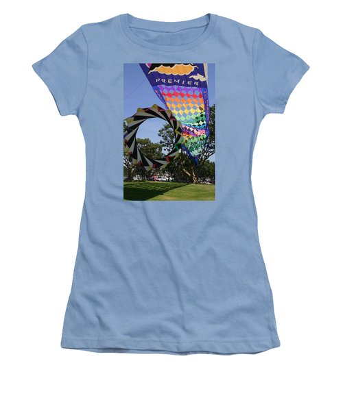 Women's T-Shirt (Junior Cut) featuring the photograph Over Under Sideways Down by Marie Neder