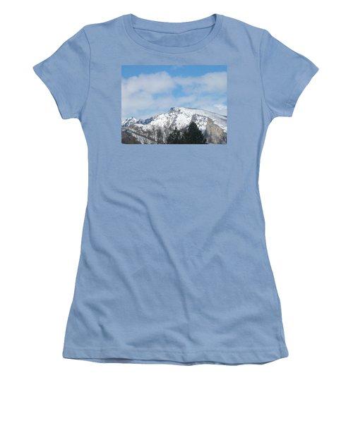 Women's T-Shirt (Junior Cut) featuring the photograph Overlooking Blodgett by Jewel Hengen
