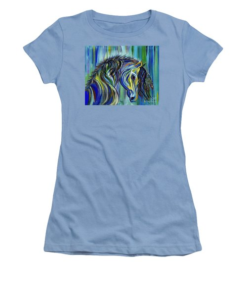Paint Native American Horse Women's T-Shirt (Athletic Fit)