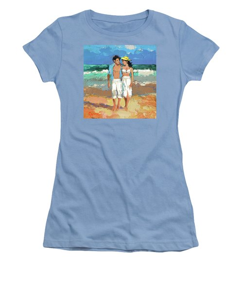 Pair By The Sea Women's T-Shirt (Athletic Fit)