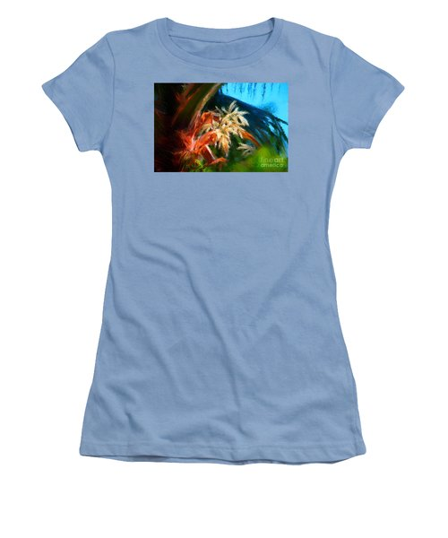 Palm Flowers Women's T-Shirt (Junior Cut) by Gerhardt Isringhaus