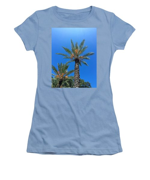 Palm Trees Women's T-Shirt (Junior Cut) by Kay Gilley