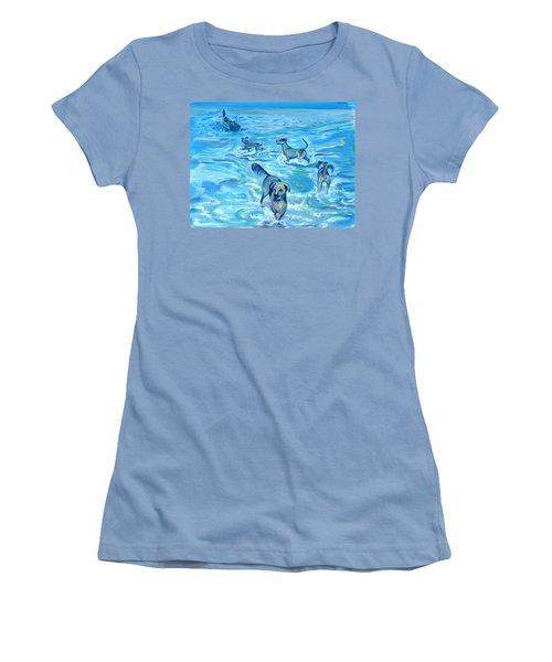 Panama. Salted Dogs Women's T-Shirt (Junior Cut) by Anna  Duyunova