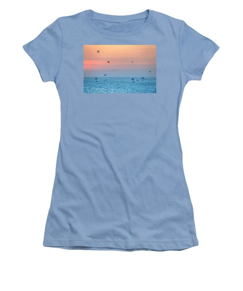 Parasailing At Boracay Women's T-Shirt (Athletic Fit)