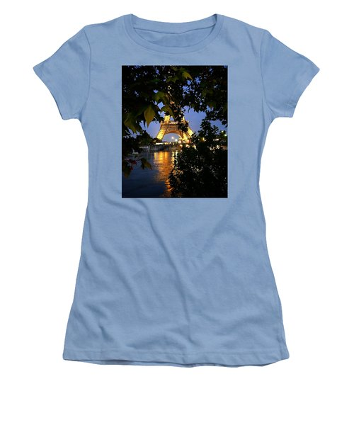 Paris By Night Women's T-Shirt (Athletic Fit)