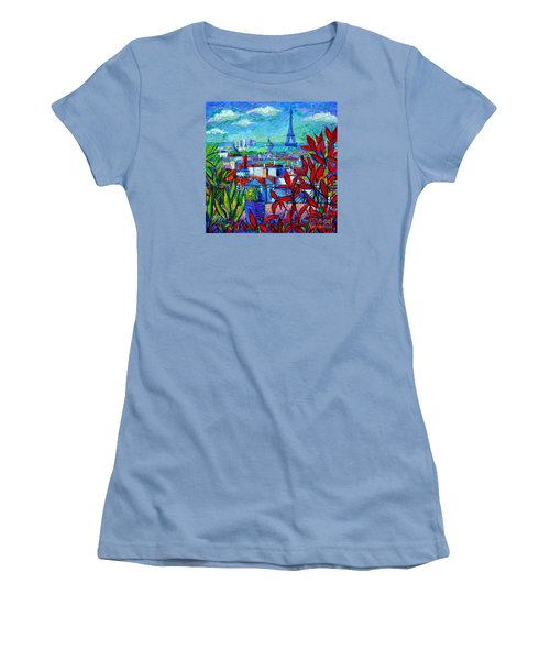 Paris Rooftops - View From Printemps Terrace   Women's T-Shirt (Athletic Fit)