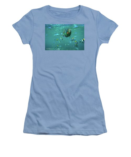 Parrot Fish Women's T-Shirt (Athletic Fit)
