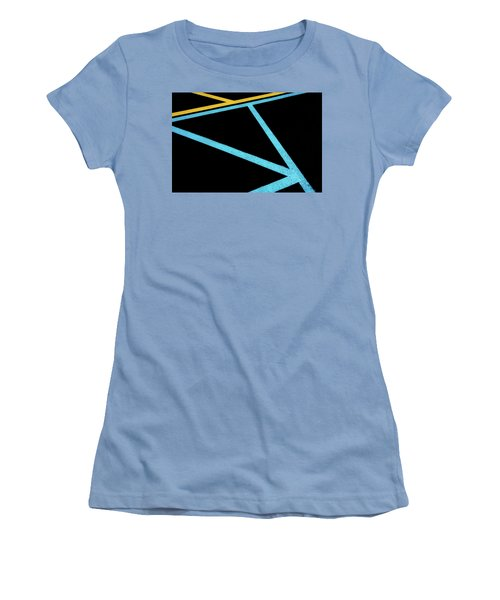 Women's T-Shirt (Athletic Fit) featuring the photograph Partallels And Triangles In Traffic Lines Scene by Gary Slawsky