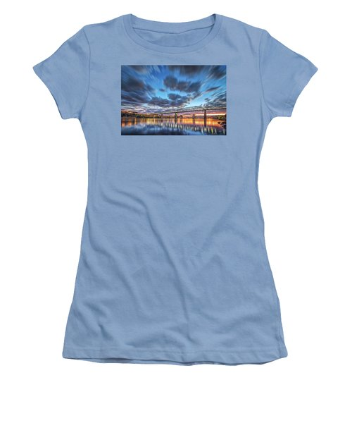 Passing Clouds Above Chattanooga Women's T-Shirt (Junior Cut) by Steven Llorca