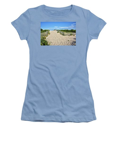 Pathway To The Beach - Delaware Women's T-Shirt (Junior Cut) by Brendan Reals