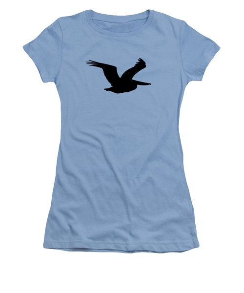 Women's T-Shirt (Junior Cut) featuring the photograph Pelican Profile .png by Al Powell Photography USA