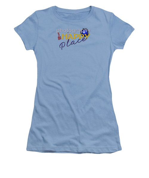 Photography Is My Happy Place Women's T-Shirt (Athletic Fit)
