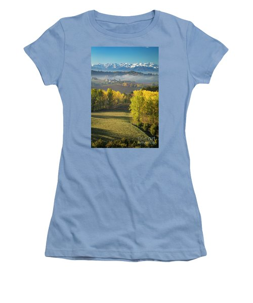 Women's T-Shirt (Junior Cut) featuring the photograph Piemonte Morning by Brian Jannsen