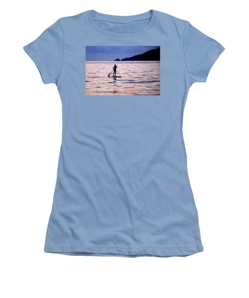 Pink Water Girl Women's T-Shirt (Athletic Fit)