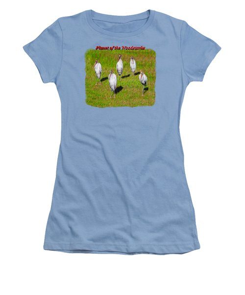 Planet Of The Woodstorks 2 Women's T-Shirt (Junior Cut) by John M Bailey