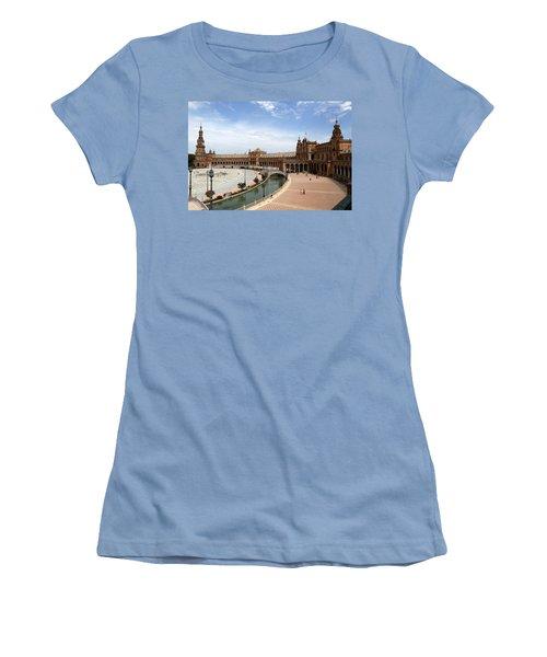 Women's T-Shirt (Junior Cut) featuring the photograph Plaza De Espana 4 by Andrew Fare