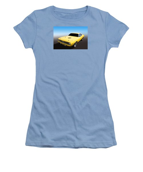 Women's T-Shirt (Junior Cut) featuring the photograph Plymouth Muscle by Keith Hawley