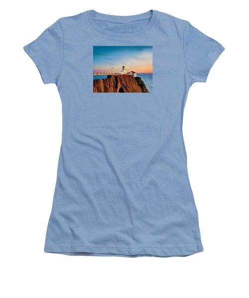 Women's T-Shirt (Junior Cut) featuring the painting Point Bonita Lighthouse by Douglas MooreZart