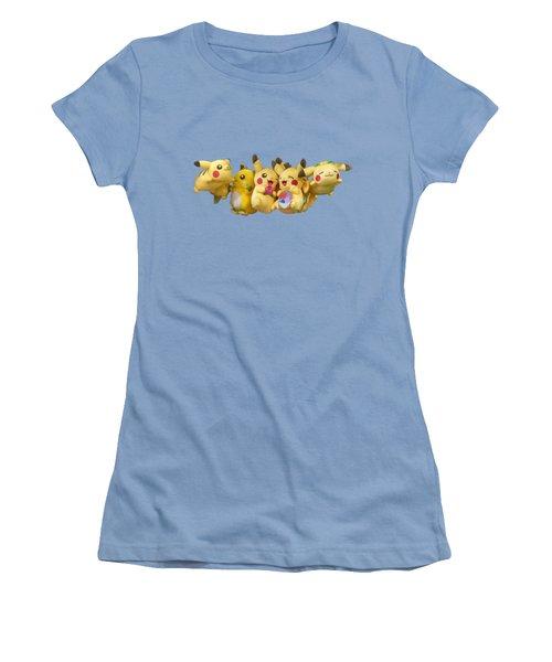 Pokemon Fliers Women's T-Shirt (Junior Cut) by John Haldane