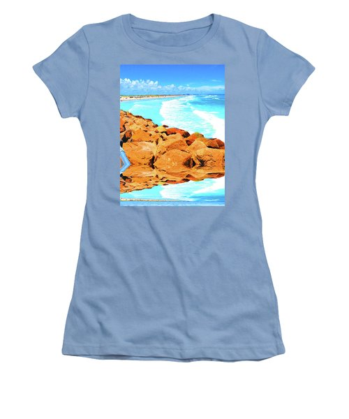 Ponce Inlet Jetty  Women's T-Shirt (Athletic Fit)