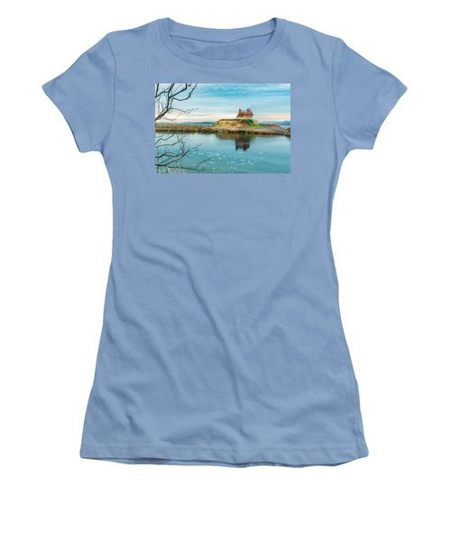 Pond And Geyser Women's T-Shirt (Athletic Fit)