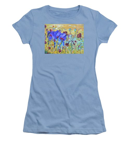 Pond Pansey Women's T-Shirt (Athletic Fit)