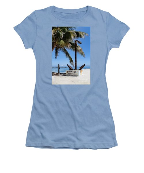 Women's T-Shirt (Junior Cut) featuring the photograph Popeyes by Lawrence Burry