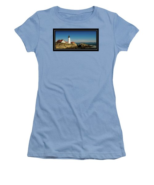 Portland Head Lighthouse 7 Women's T-Shirt (Junior Cut) by Sherman Perry