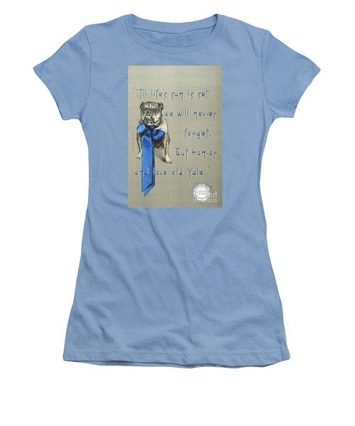 Poster - Yale Bulldog Women's T-Shirt (Junior Cut) by Pg Reproductions